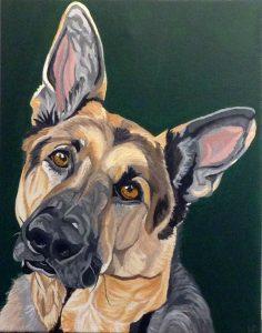 Retrato pintado del animal doméstico